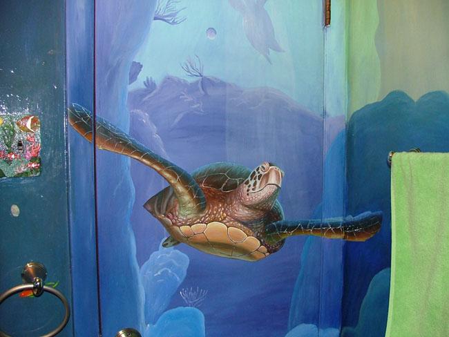 Bathroom Dolphin Wall Murals